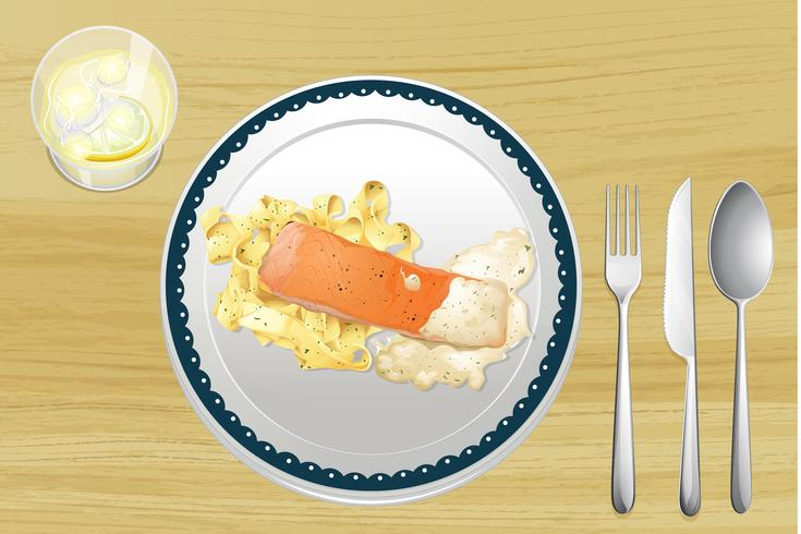 Salmón y pasta