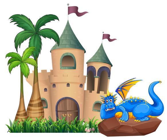 Een draak over het kasteel