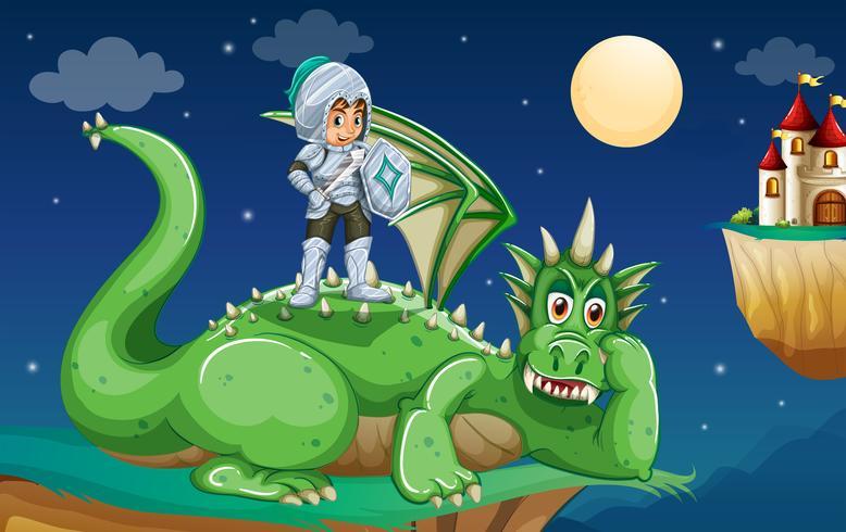 Cavaleiro e dragão