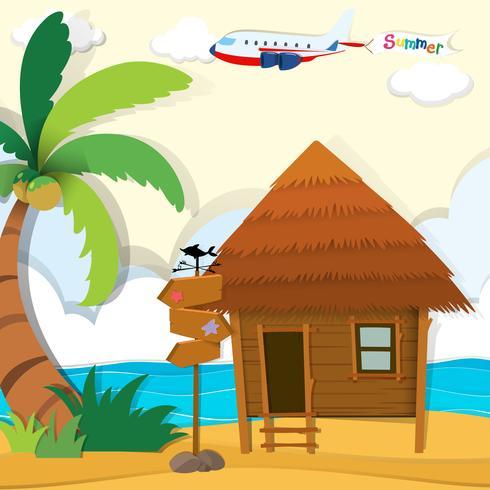 Cabin on the beach