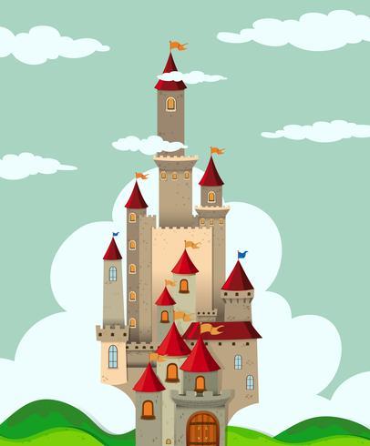 Castillo con altas torres