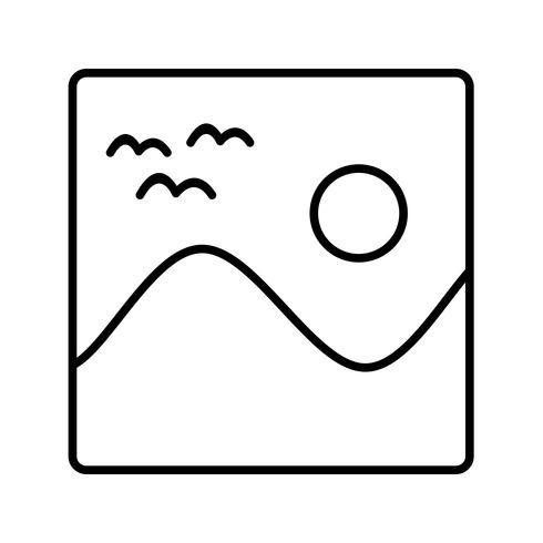 Icono de línea negra