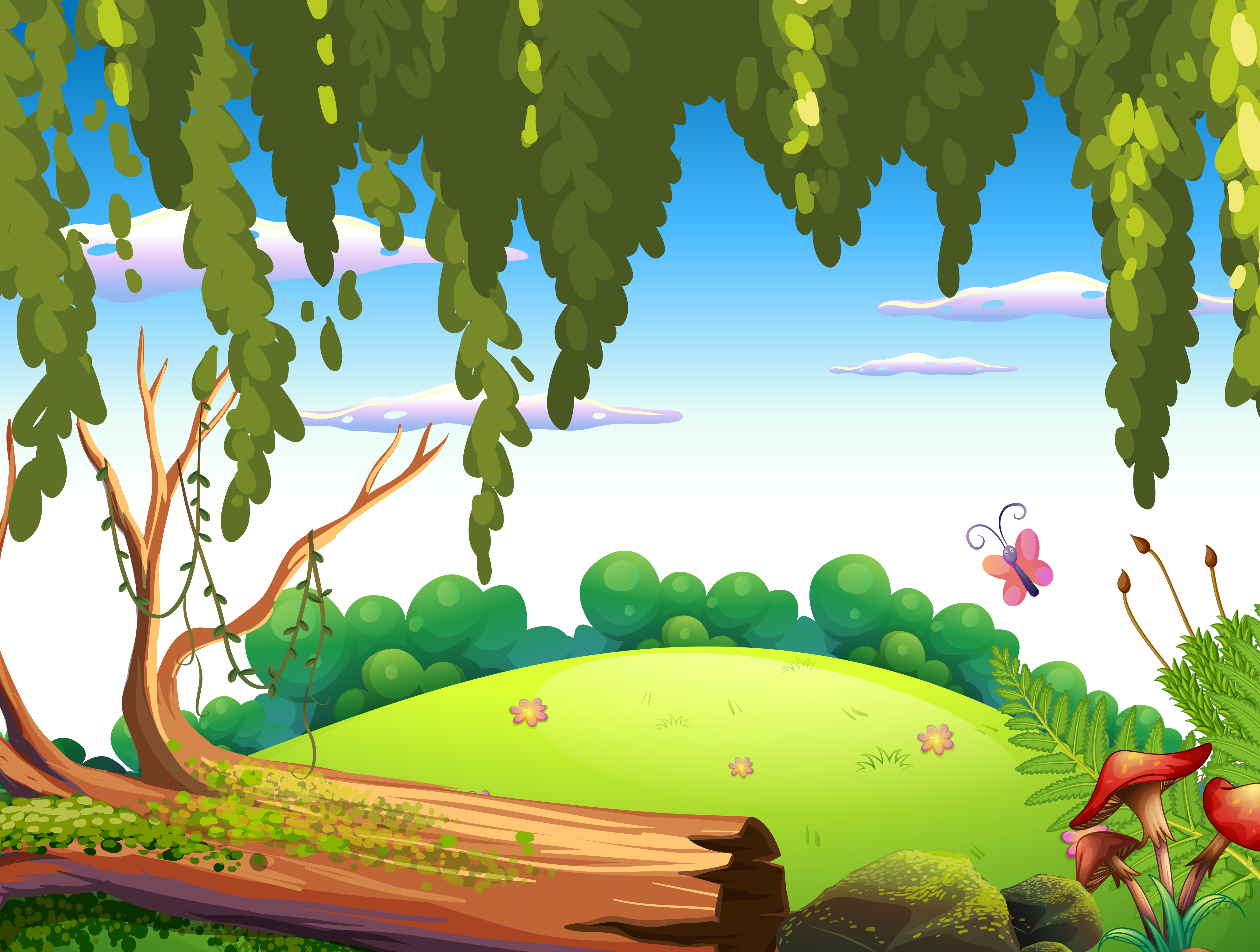 A nature forest background - Download Free Vectors ...