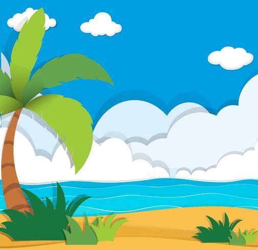 Scen med blått hav på dagtid