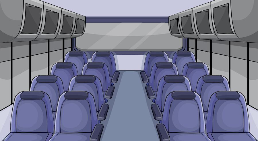 Scene in airplane with blue seats vector