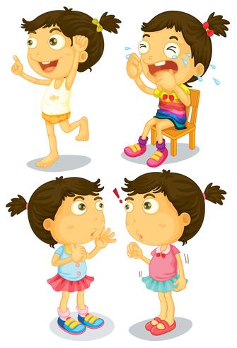 Acciones de niña