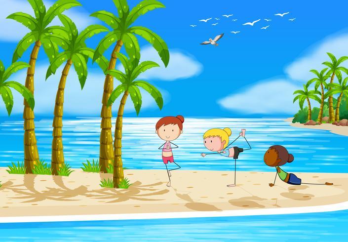 Yoga y playa
