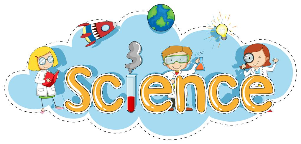 Sticker template for word science vector