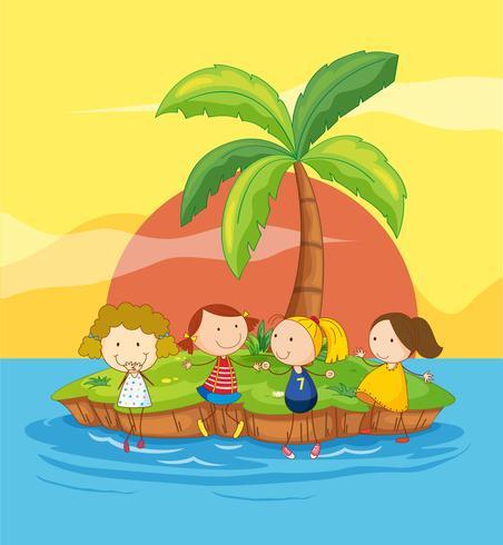 Barn på en ö