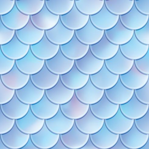 Fish scales seamless pattern. Mermaid tail texture. Vector illustration