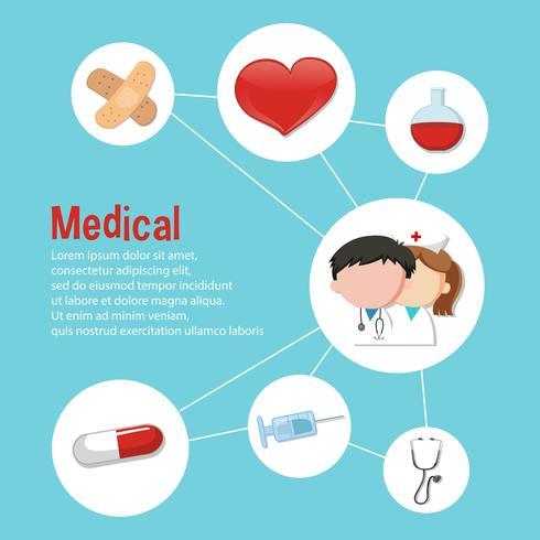 Infografisk design för medicinskt tema