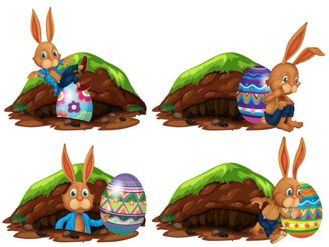 Eine Reihe von Ostern Hase