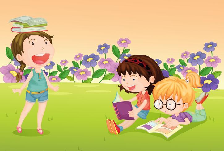 Meisjes die boeken lezen