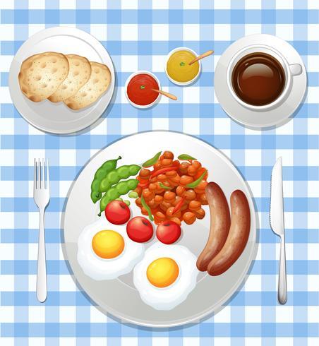 Un ensemble de petit déjeuner britannique