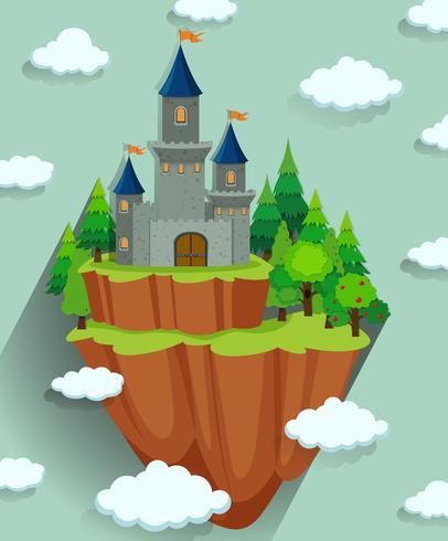 Schlossturm im Wald