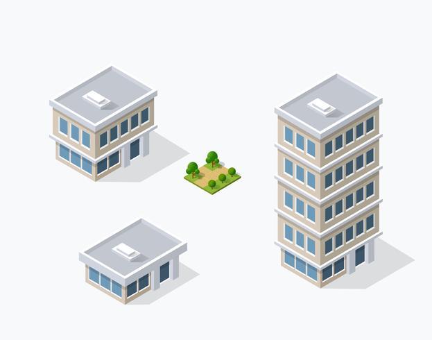 Stadsdelens gatahus Isometric