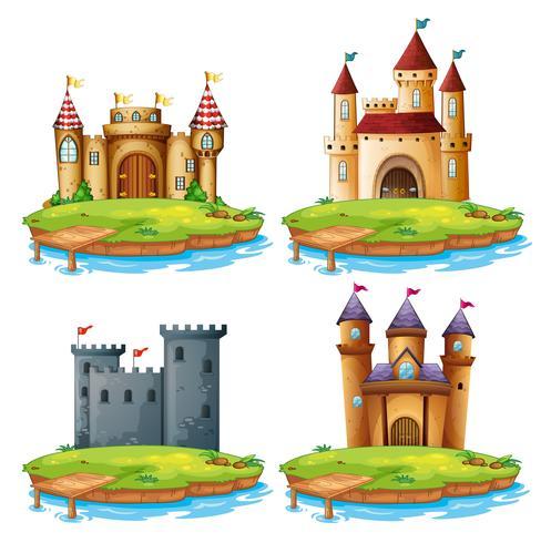 Set di diversi castelli