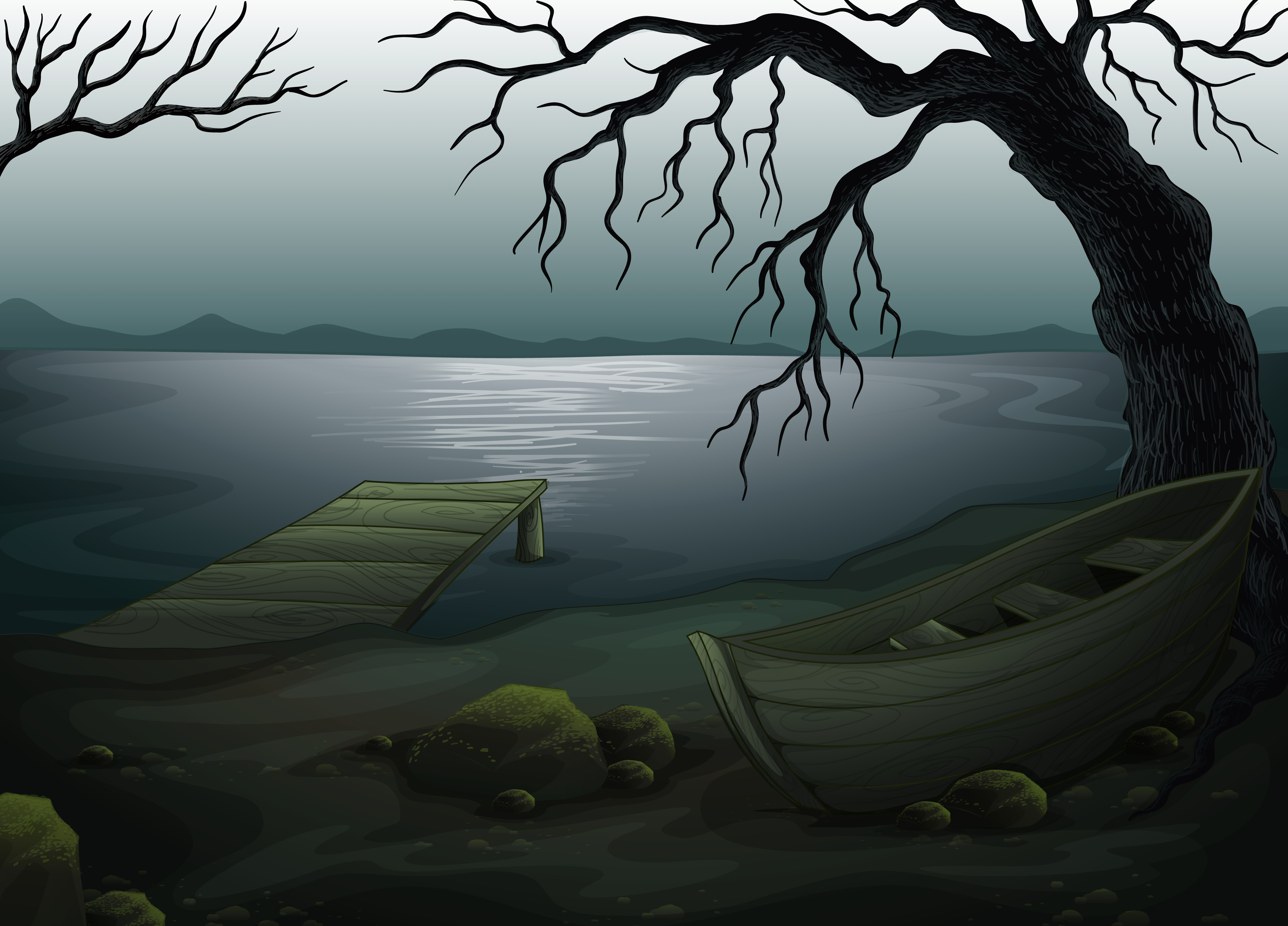 Creepy Forest Free Vector Art 55 Free Downloads
