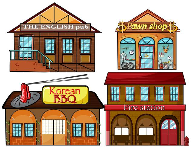 Engelsk pub, koreansk restaurang, pawnshop och brandstation