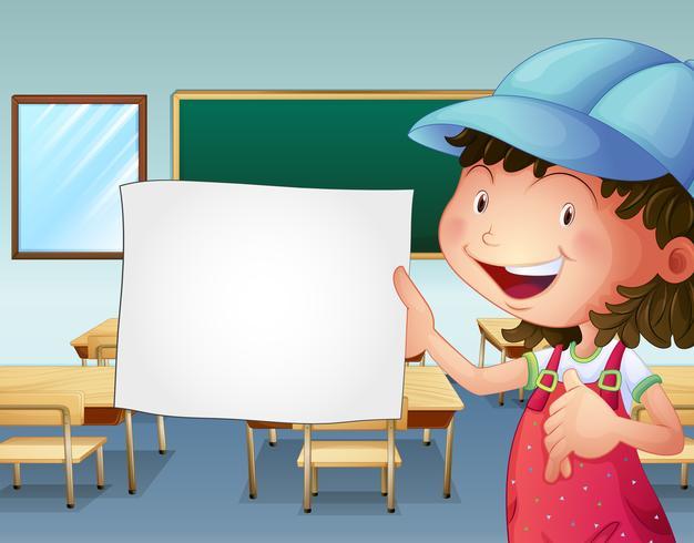 Uno studente in possesso di un pezzo di carta vuoto