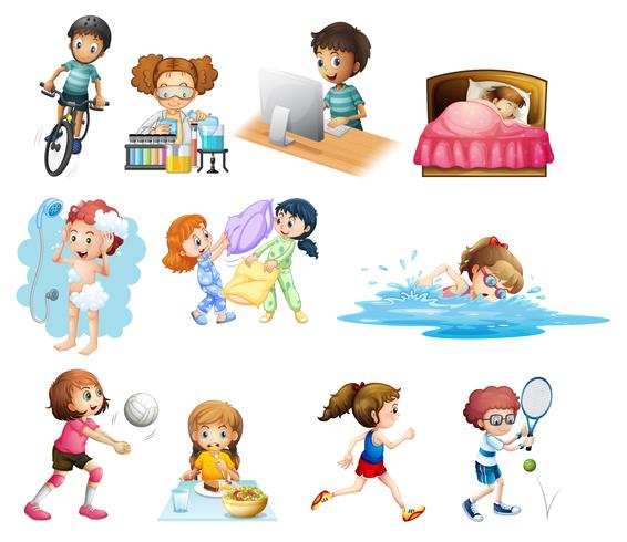 Groupe de personnages pour enfants