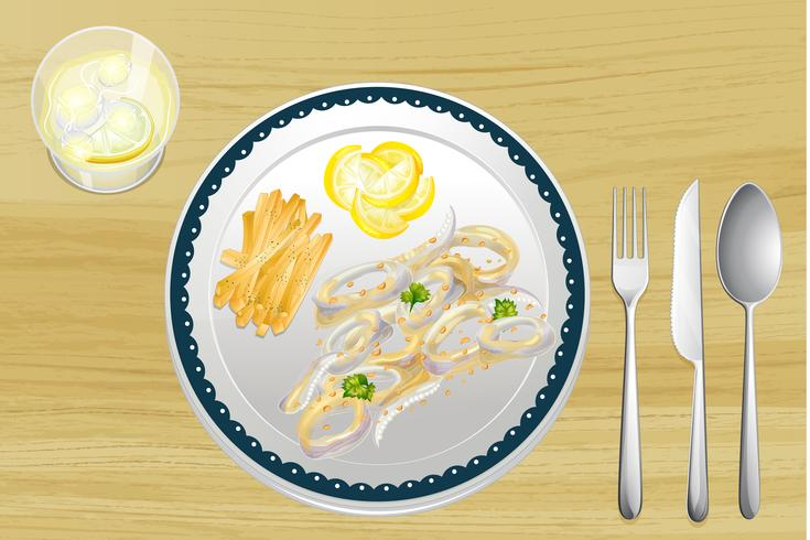 Calamari en frietjes