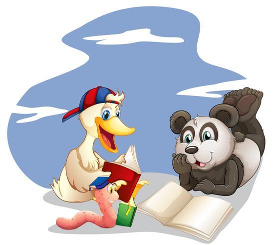 Animali che leggono libri