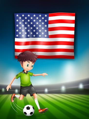 Amerikanische Fußballspielerschablone