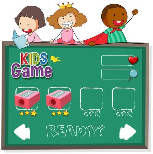 Doodle bambini sul modello di gioco