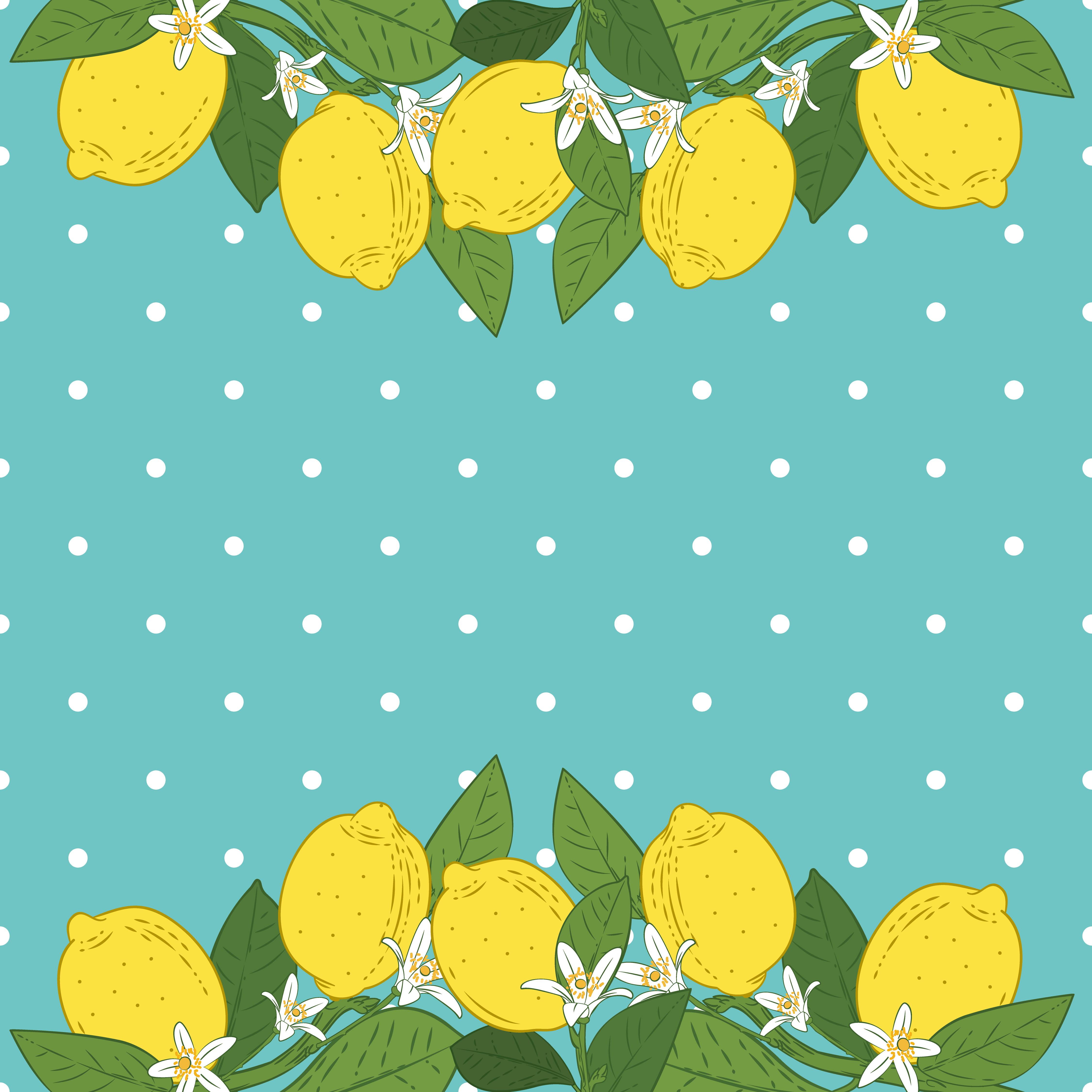 Tropical Citrus Lemon Fruits Bright Background. Poster