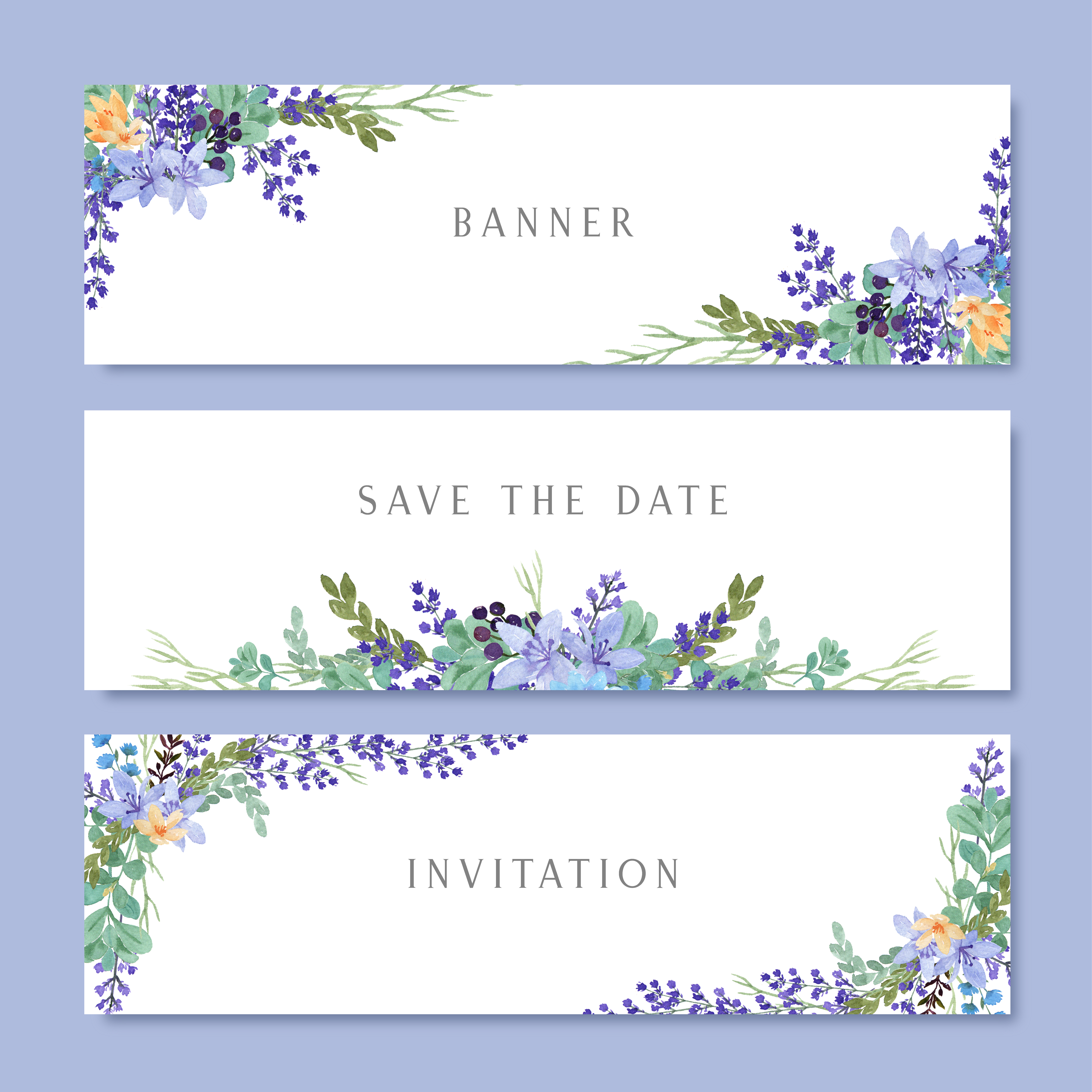 watercolor flowers with text banner lush flowers