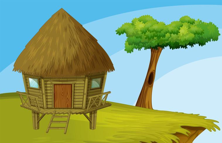 Hütte auf einer Klippe
