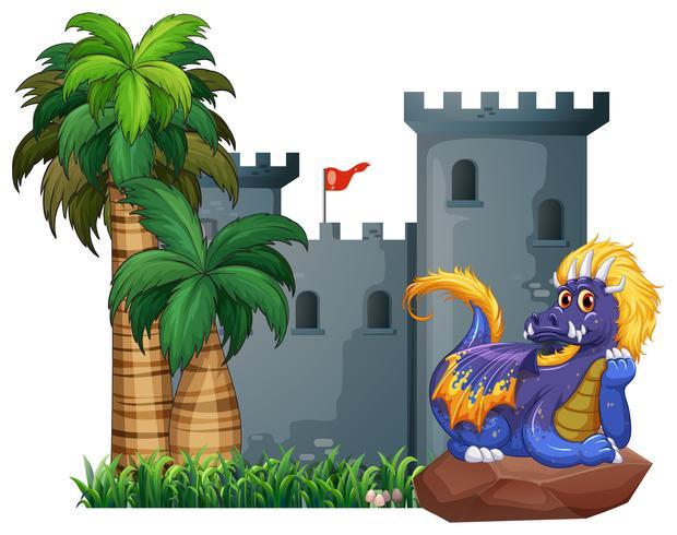 Dragon et un chateau