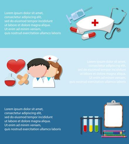 Infographic med medicinsk tema på blå bakgrund