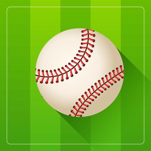 Vecteur réaliste balle de baseball