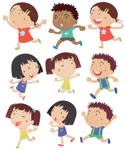 Enfants courir vecteur
