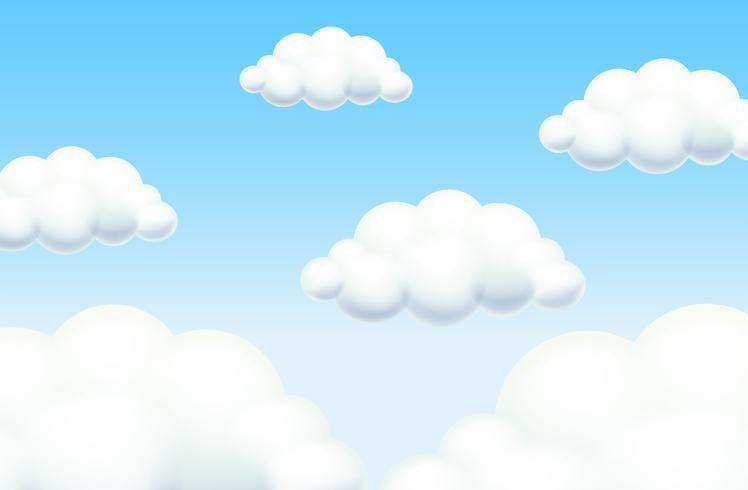 Cielo de fondo en un día soleado vector