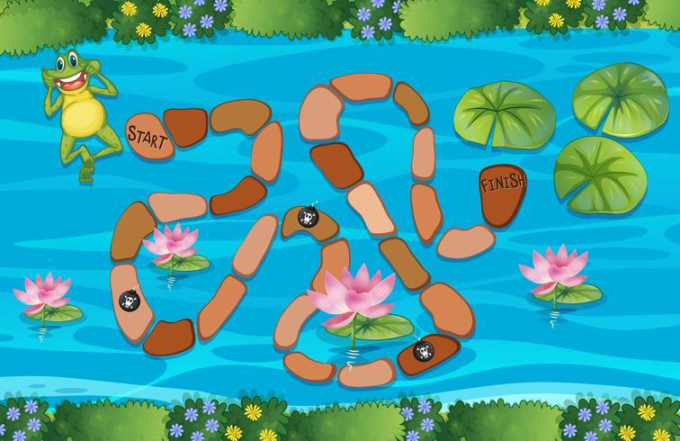 Un juego de laberinto de ranas vector
