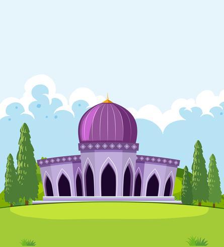 Eine schöne Moscheenschablone
