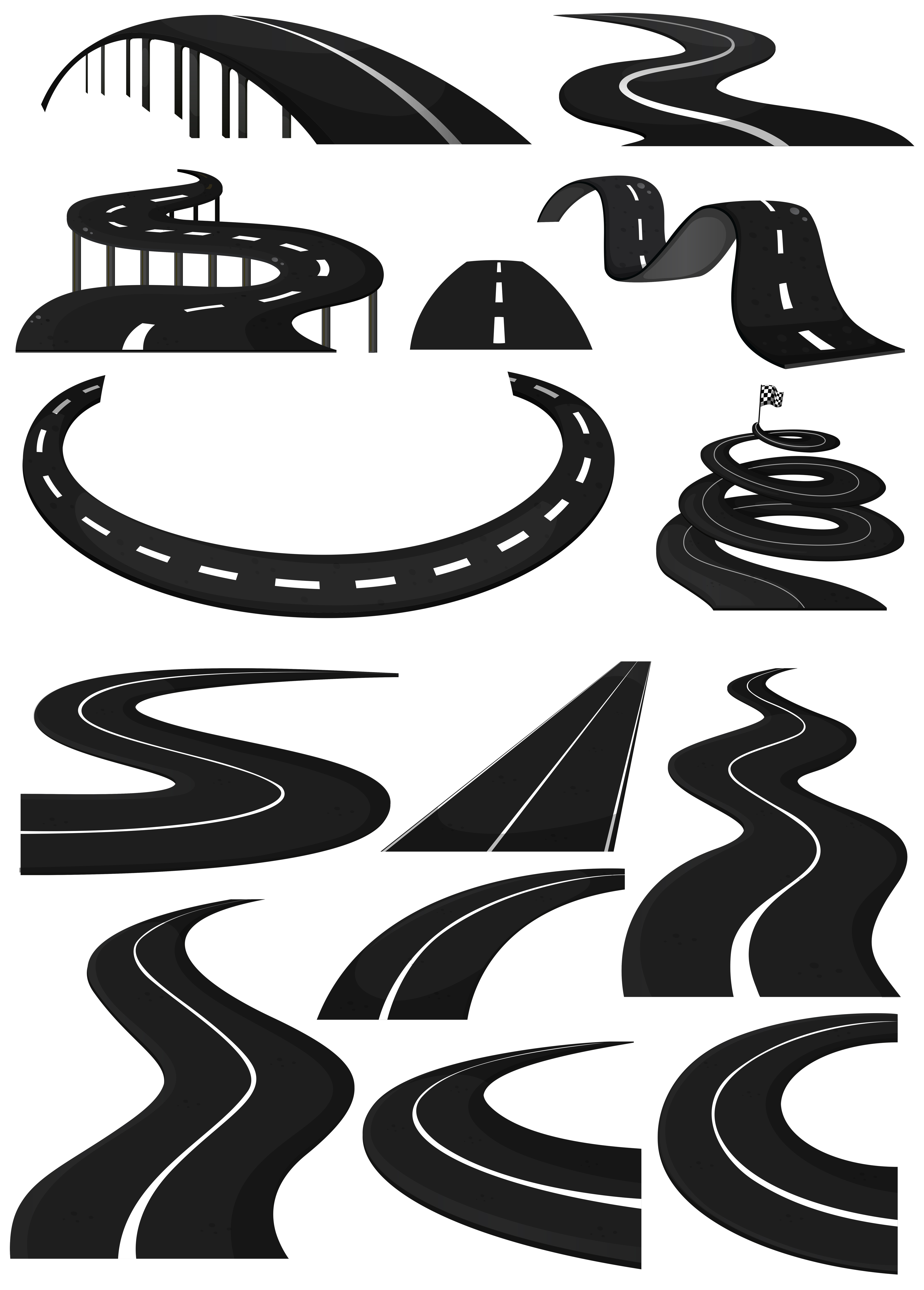 Different shapes of lanes - Download Free Vector Art ...