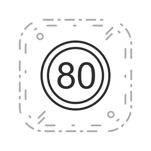 Icona di limite di velocità 80