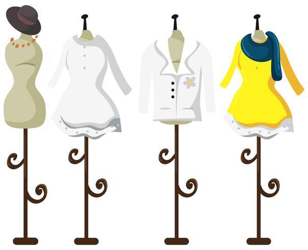 Female tailor dummy on white background vector
