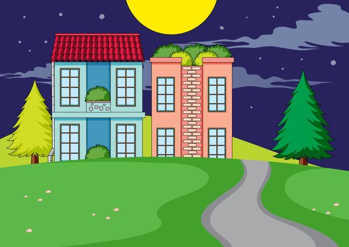 Een eenvoudig landelijk huisdorp