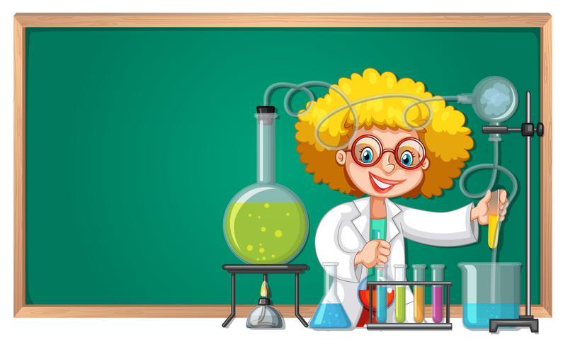 Um experimento científico no laboratório