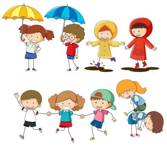 Conjunto de actividades para niños. vector