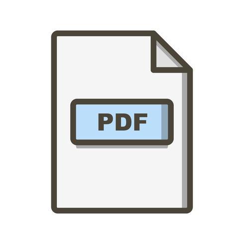 icono de vector pdf