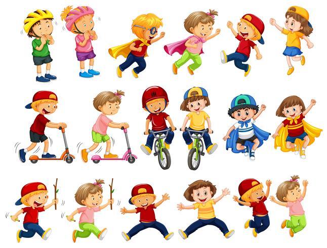 En uppsättning urbana barnaktiviteter vektor