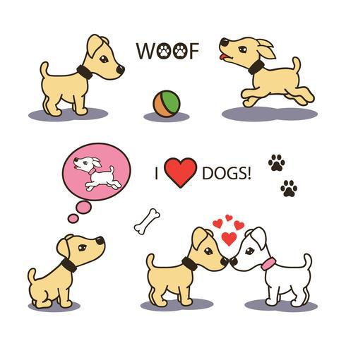 Vector set di cani divertenti cartoon