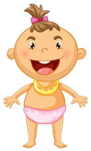 Petite fille avec grand sourire vecteur