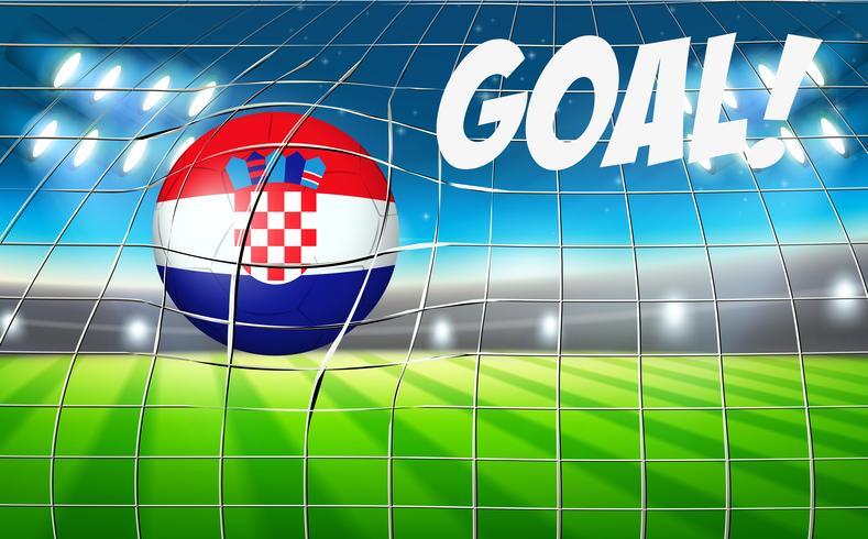 Copa del mundo de fútbol de Croacia vector